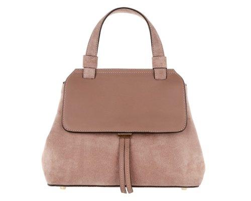 Abro Kaleido Handtasche aus hochwertigem Veloursleder