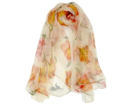 Antonello Serio Floral Silk Scarf