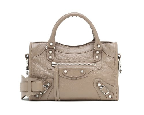 Beige Balenciaga City Bag