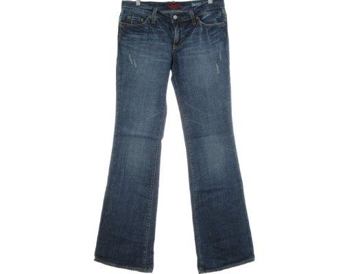 Blaue Jeans mit ausgefranstem Saum von Blue Cult.