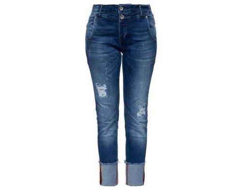 Blaue Jeans in Used Optik Style von ATT Jeans
