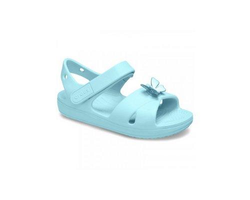 Blaue Sandalen mit Keilabsatz von Crocs