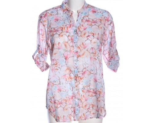 Bluse mit Blumenprint von Walbusch