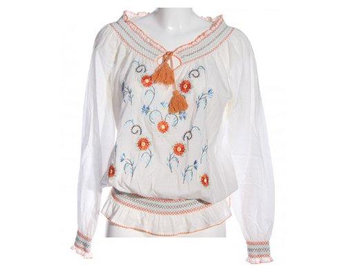Bluse mit Stickereiverzierung von Minneola
