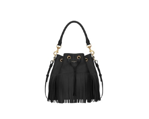 Boho Chic, die Saint Laurent Bucket Bag mit Fransen