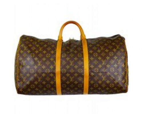 Braune Louis Vuitton Keepall Tasche