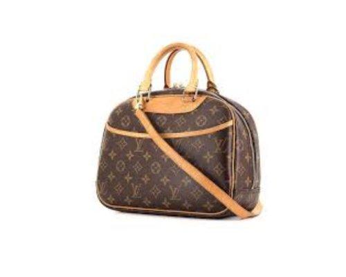 Braune Louis Vuitton Trouville Tasche mit LV-Monogramm-Print