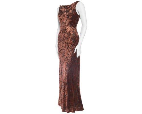 Bronze Abendkleid von Carmen Marc Valvo