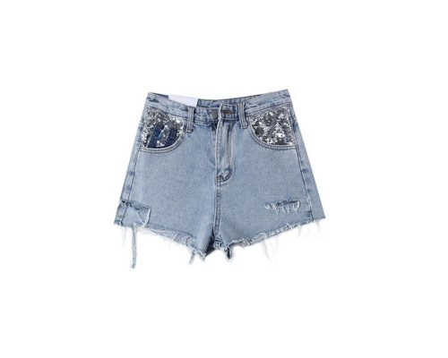 Casual Look mit Jeansshort  von Cache & Cache