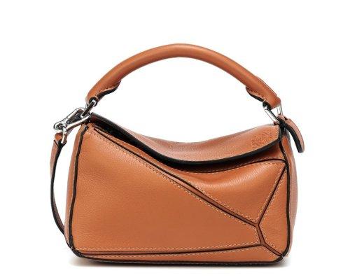 Cognacfarbene Puzzle Bag von Loewe