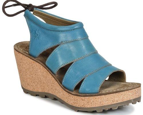 Coole Peeptoe-Sandalen mit Plateau in knalligen Farben