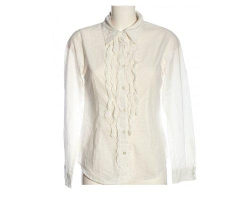 Cotton Bluse mit Ruschen von BWNY Jeans