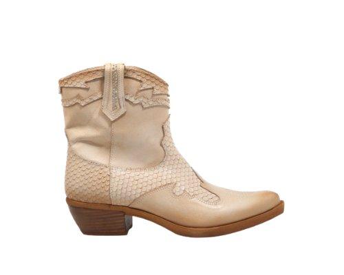 Creme Cowboy Stiefletten von Felmini.