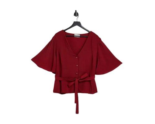 Elegante Burgunder Bluse von Asos Curve
