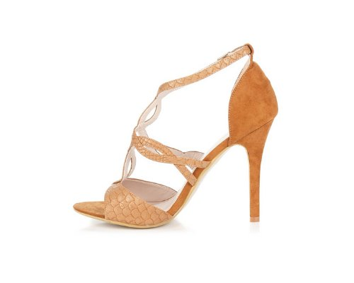 Elegante Peeptoe Sandalen mit schönem Imprint