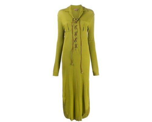 Elegantes Langarmkleid mit Puff-Ärmeln von Romeo Gigli