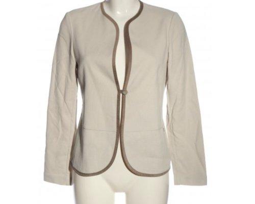 Falconeri Jacke in Beige mit braunen Details