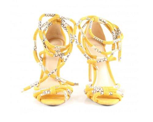 Gelb High Heel Sandalen von Alexandre Birman
