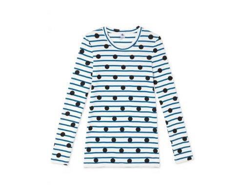 Gemustertes T-Shirt von Petit Bateau aus Baumwolle
