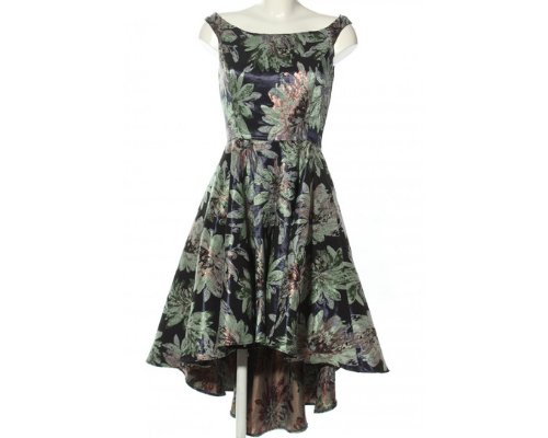 Glamouröser Romantik-Look, MIdikleid mit Floralmuster.