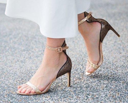 Glitzernde Sandaletten von Sophia Webster