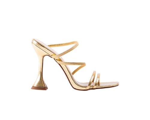 Gold Slingback Sandaletten von Bebo