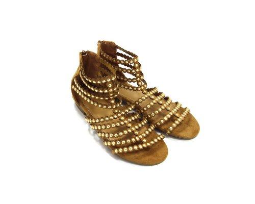 Goldene Sandaletten im Metallic-Look von Cassis