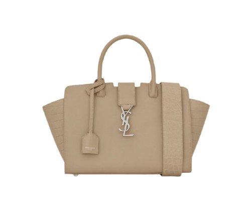 Goldenes Yves Saint Laurent-Logo der Downtown Handtasche