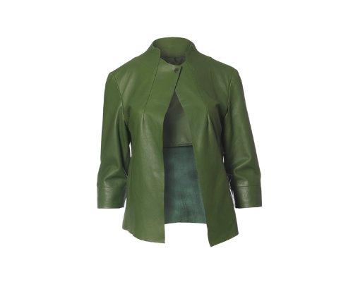 Grüne Lederjacke von Cigno Nero
