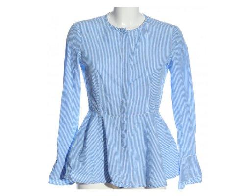 Hemd-Bluse in blau-weiß mit Streifenmuster von Adolfo Dominguez