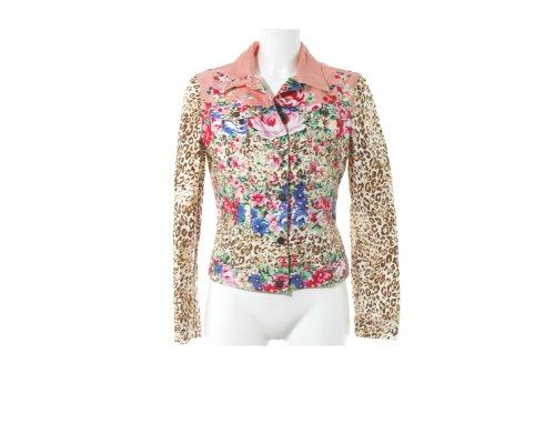 Hemd mit Leoparden-Felljacke von Blumarine