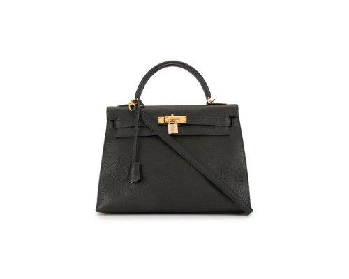 Hermès Herbag Tasche mit Seidentuch gestylt