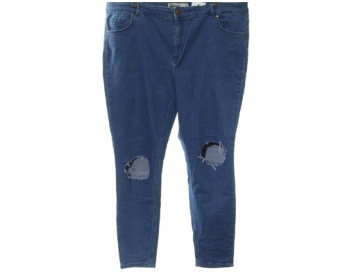 High Waist Used Look Jeans von Asos Curve