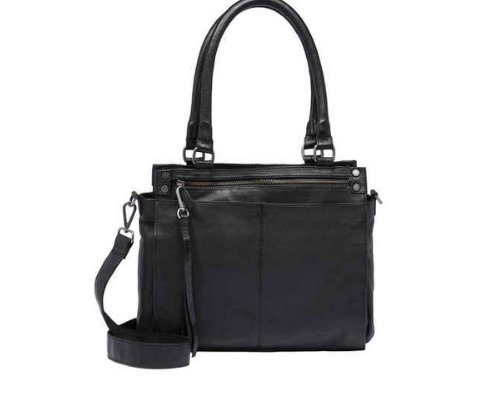 Idealer Begleiter: FredsBruder Black Shopper Bag Country