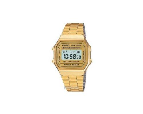 Immer stilsicher und pünktlich mit der goldenen Casio Uhr im Retro-Design