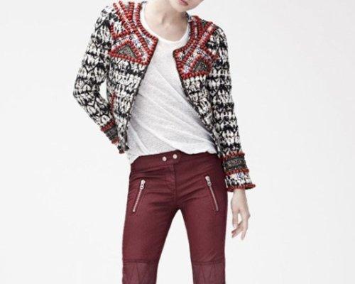 Isabel Marant pour H&M Boucle-Jäckchen und Bikerhose