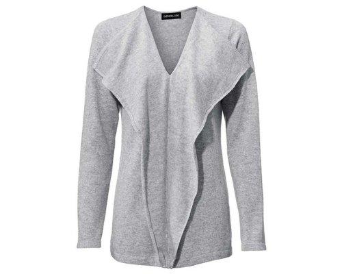 Kaschmir-Pullover in Grau von Patrizia Dini