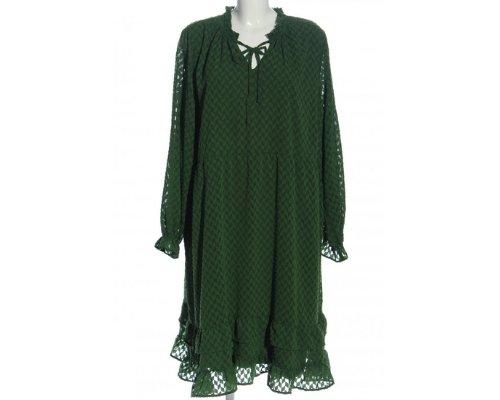 Khaki Kleid mit Ruschen von Junarose