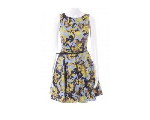 Kleid mit buntem Blumenmuster von Closet.