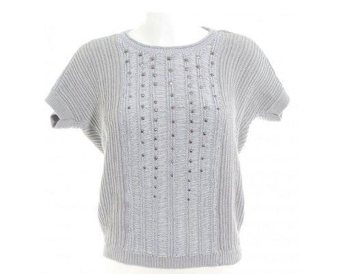 Kurzarm Pullover von Olsen in Grau