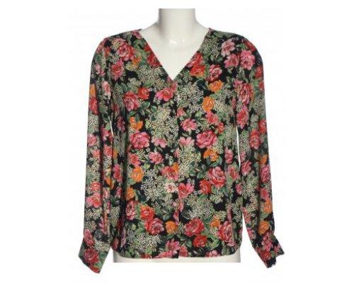 Langarm Bluse mit Blumen Print von Adilisk