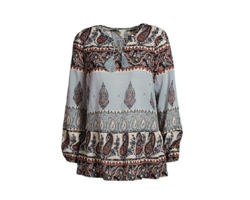 Langarm-Bluse mit Parsley Print von Alisha