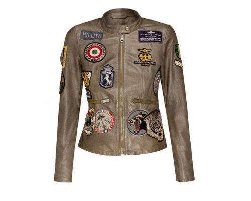 Lederjacke von Aeronautica Militare