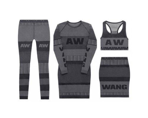 Leggings, Minirock und Crop Top in Grau und Schwarz von Alexander Wang for H&M