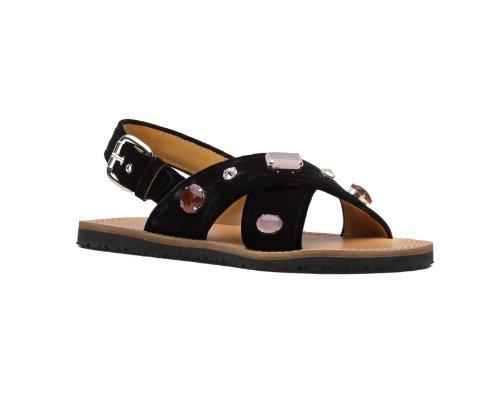 Niedliche Car Shoe Sandalen aus hochwertigem Kalb-Leder