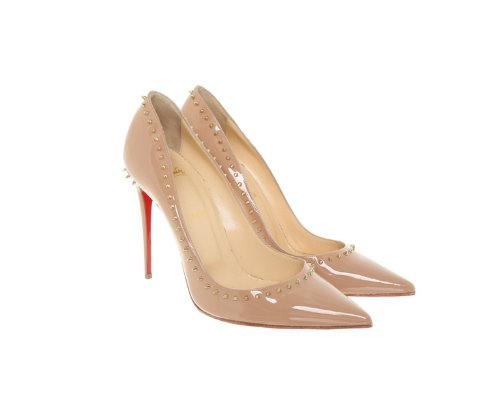 Nude farbene Christian Louboutin So Kate Pumps