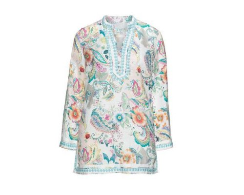 Open End Print Bluse