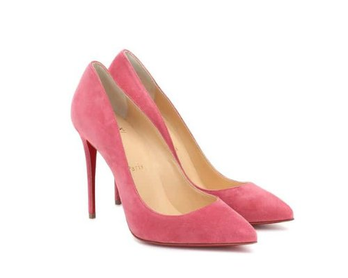 Pinke Christian Louboutin Pigalle Pumps
