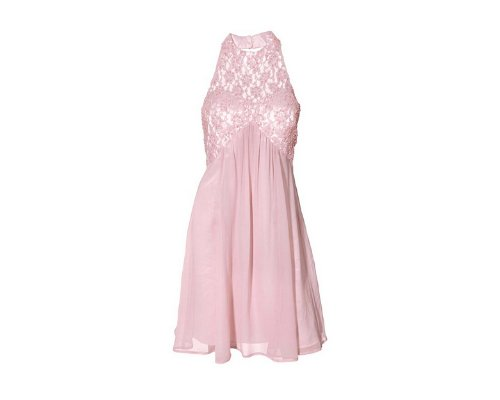Rosa kleid mit schulterfreier Partie  von Carry Allen by Ella Singh