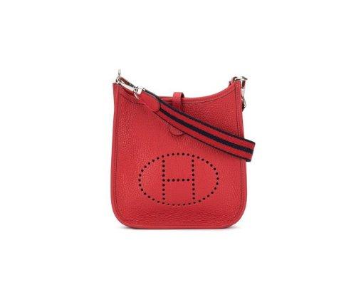 Rote Hermés Evelyne Handtasche